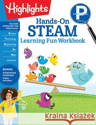 Preschool Hands-On Steam Learning Fun Workbook Highlights Learning 9781644721865