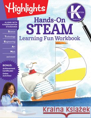 Kindergarten Hands-On Steam Learning Fun Workbook Highlights Learning 9781644721872