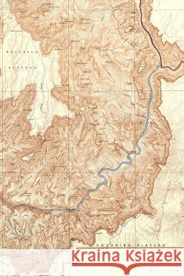 1948 Topographic map of the Grand Canyon National Park Arizona: A Poetose Notebook / Journal / Diary (50 pages/25 sheets) Poetose Press 9781646720057