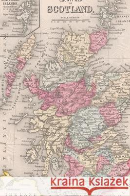 1863 Map of Scotland and Ireland: A Poetose Notebook / Journal / Diary (50 pages/25 sheets) Poetose Press   9781646720101