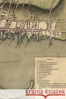 1777 plan of the town of Newport in Rhode Island: A Poetose Notebook / Journal / Diary (50 pages/25 sheets) Poetose Press 9781646720149