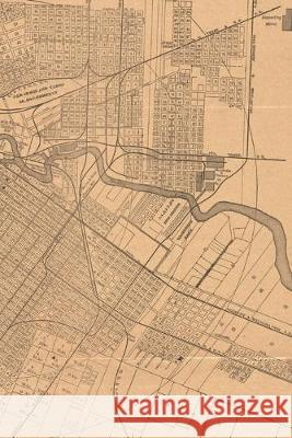 1890 Map of Houston, Texas: A Poetose Notebook / Journal / Diary (50 pages/25 sheets) Poetose Press 9781646720231