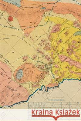 1904 Geological Map of a Portion of West Texas: A Poetose Notebook / Journal / Diary (50 pages/25 sheets) Poetose Press 9781646720248