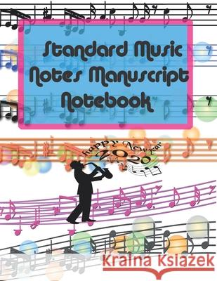 Standard Music Notes Manuscript Notebook: 13 Stave Manuscript Notebook: 96 Pages Extra Wide Staff Music Paper 8.5 x 11 inches> White paper. Matte fini Epic Music Publishing 9781659262292