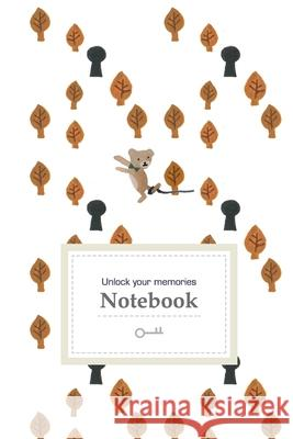 Unlock Your Memories: Grid Journal with Bear, Autumn Leaves, and Key Holes (6x9 inches) - Fairytale-Like Notebook for Creative Thinkers Connie Lin Oscar Liu Winterlogy 9781670517852