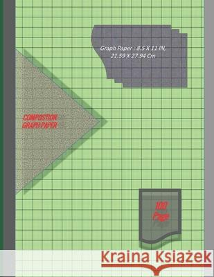 Graph Paper Notebook 8.5 x 11 IN, 21.59 x 27.94 cm [100page]: 1 mm thin and 10 cm thick light gray grid lines [metric], perfect binding, non-perforate Dy 9781676138839