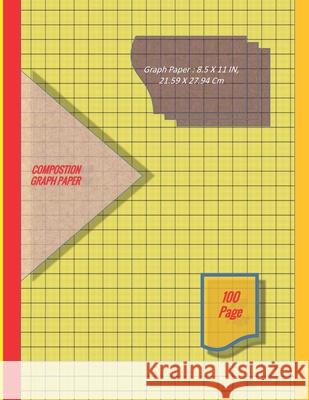 Graph Paper Notebook 8.5 x 11 IN, 21.59 x 27.94 cm [100page]: 1 mm thin and 10 cm thick light gray grid lines [metric], perfect binding, non-perforate Dy 9781676139263