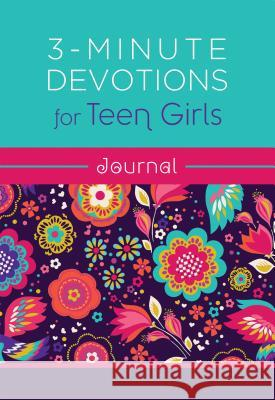 3-Minute Devotions for Teen Girls Journal Compiled by Barbour Staff 9781683229377