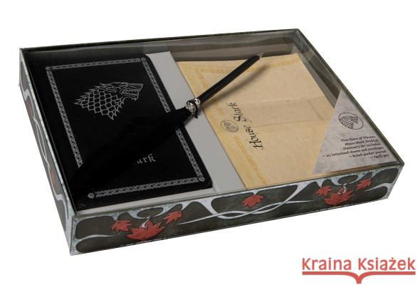Game of Thrones: House Stark: Desktop Stationery Set (with Pen) Insight Editions 9781683832744