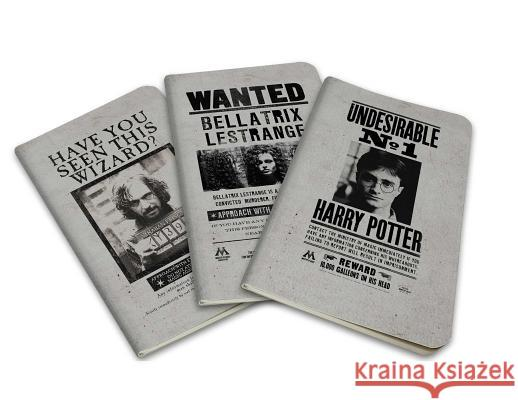 Harry Potter: Wanted Posters Pocket Notebook Collection (Set of 3) Insight Editions 9781683833574