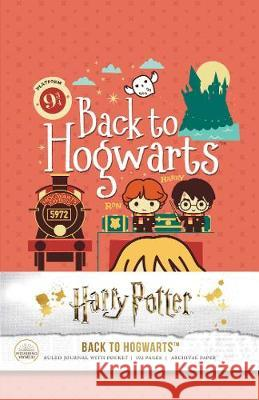 Harry Potter: Back to Hogwarts Hardcover Ruled Journal Insight Editions 9781683838913