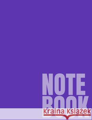 Notebook: Purple College Ruled 8.5 x 11 (100 Pages) Simple College Notebooks 9781688878891