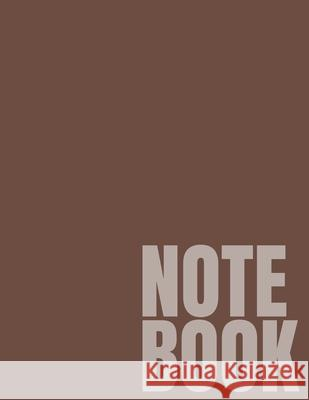 Notebook: Brown College Ruled 8.5 x 11 (100 Pages) Simple College Notebooks 9781688878969