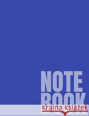 Notebook: Blue College Ruled 8.5 x 11 (100 Pages) Simple College Notebooks 9781688879232