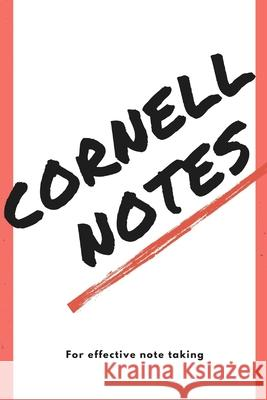 Cornell notepad with templated pages Zadoddle Publishing 9781689320382