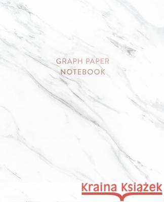 Graph Paper Notebook: Soft White Marble - 7.5 x 9.25 - 5 x 5 Squares per inch - 100 Quad Ruled Pages - Cute Graph Paper Composition Notebook Paperlush Press 9781689682633