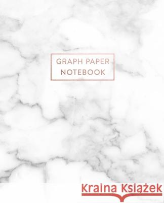 Graph Paper Notebook: Smokey White and Gray Marble - 7.5 x 9.25 - 5 x 5 Squares per inch - 100 Quad Ruled Pages - Cute Graph Paper Compositi Paperlush Press 9781689682763