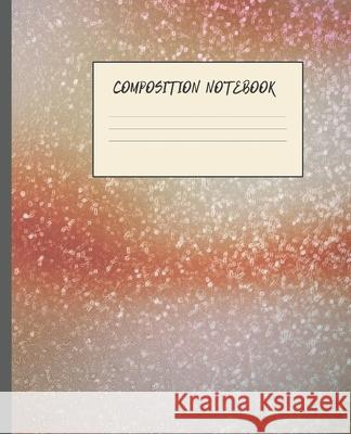 Composition Notebook: JUPITER RISING ABSTRACT DESIGN COVER - 7.5 x 9.25