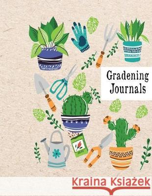 Gardening Journals: Garden record diary with Personal Seasonal recording all your gardening activities, projects and ideas Floral Plants g Bb Pub 9781695494756
