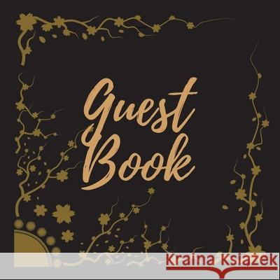 Guest Book - Gold Frame #15 -For any occasion -Light Green Color Pages - 8.5 x 8.5 Inches - 82 pages Pappel20 9781716249167