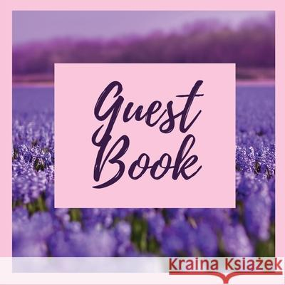 Premium Guest Book- Lavender Field - For any occasion - 80 Premium color pages - 8.5 x8.5 Pappel20 9781716251504
