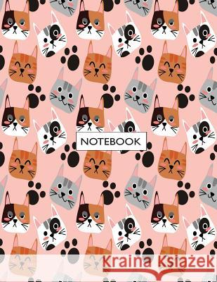 Notebook: Cute Cat on Pink Cover and Lined Pages, Extra Large (8.5 X 11) Inches, 110 Pages, White Paper Cutie Cat 9781718735194