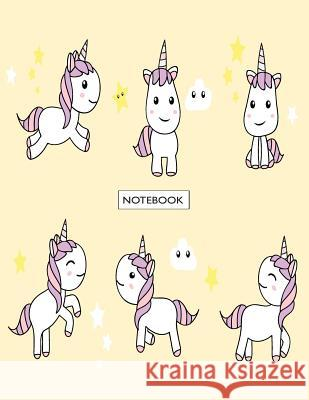 Notebook: Unicorns on Orange Cover and Dot Graph Line Sketch Pages, Extra Large (8.5 X 11) Inches, 110 Pages, White Paper, Sketc Cutie Unicorn 9781718980945