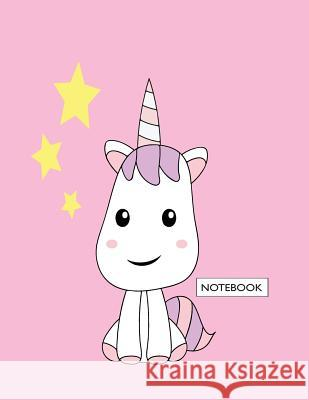 Notebook: Cute Unicorn on Pink Cover and Dot Graph Line Sketch Pages, Extra Large (8.5 X 11) Inches, 110 Pages, White Paper, Ske Cutie Unicorn 9781718980969