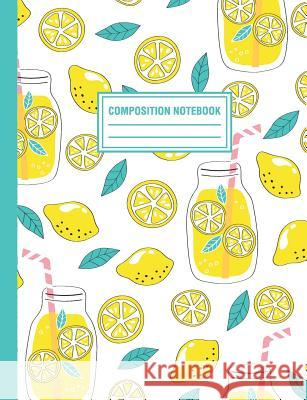 Composition Notebook: Lemonade Lemons Pattern Composition Book For Students College Ruled Pink Willow Print 9781720174912