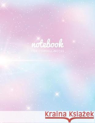 Notebook for Cornell Notes: Pink Fantasy Galaxy - 120 White Pages 8.5x11