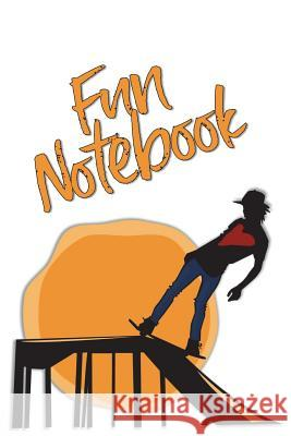 Fun Notebook: Boys Books - Mini Composition Notebook - Ages 6 -12 - Orange Skateboard Art Simple Planners and Journals 9781721805228