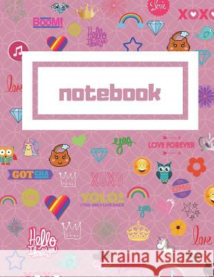 Pink College Ruled Notebook: 8.5x11 College Ruled Composition Notebook Perfect for School&college. Click Author's Name&find the Same Cover, with Wi Fun Journals Kai Journals 9781722325848
