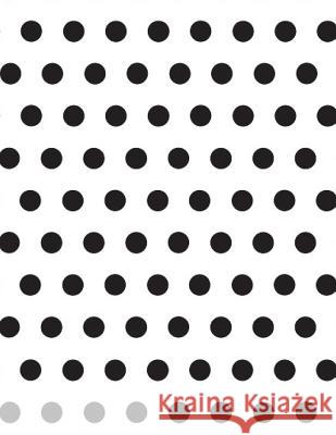 Black and White Spots Notebook Large Size 8.5 X 11 Ruled 150 Pages Wild Pages Press 9781722675011