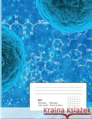 The Cell and Elements of Life Composition Notebook: 4x4 Graph 8.5 X 11 (Large) for Chemistry, Biology, Stem Cell, Sphere, Three-Dimensional Shape, Hea Excellent Notebooks 9781722680312