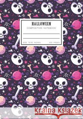 Halloween Composition Notebook: College Ruled Study Skill School Supplies for Student Jasmine Books 9781724096227