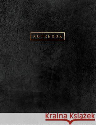 Notebook: Black Suede Leather Style Notebook - Softcover with Gold Lettering 150 College-Ruled Pages 8.5 X 11 - A4 Size Paperlush Press 9781724121080