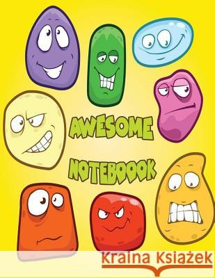 Awesome Notebook: Emoticon Bubble Emoji School Notebook Thank You Gift: 120 Pages of 8.5