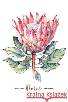 Notes: Watercolor Protea Flower Design, Composition Book/Notebook, 100 Pages, Medium College Ruled, 6 X 9 in (15.2 X 22.9 CM) Flip and Finch Creative Station 9781725660427