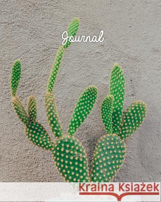 Journal: Blank Lined Notebook 8x10 Cactus Succulent Plant Garden Harvest Journals 9781726631280