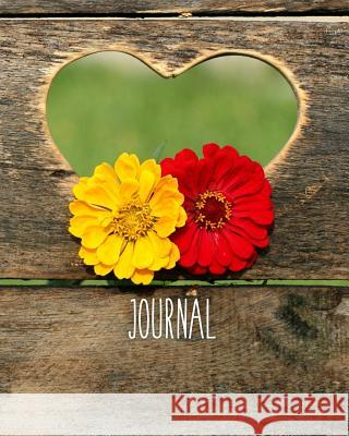 Journal: Blank Lined Journal Country Wood Heart Cutout Harvest Journals 9781726633956