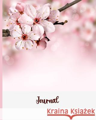 Journal: Blank Lined Notebook 8x10 Cherry Blossoms Pink Harvest Journals 9781726633987