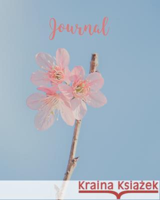 Journal: Blank Lined Notebook 8x10 Pink Flower Blue Sky Harvest Journals 9781726659000