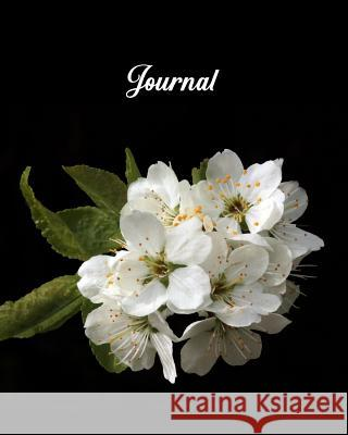Journal: Blank Lined Notebook 8x10 White Flower Blossom Bloom Harvest Journals 9781726663854