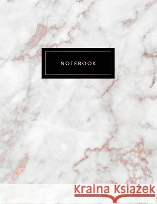 Notebook: Beautiful Shiny Rose Gold and Soft White Marble 150 College-Ruled (7mm) Lined Pages 8.5 X 11 - (A4 Size) Paperlush Press 9781726850964