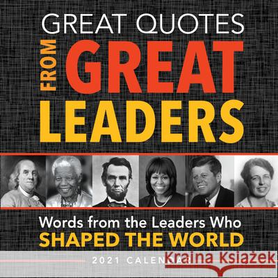 GREAT QUOTES FROM GREAT LEADERS 2021 BOX Sourcebooks 9781728206363