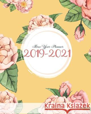 2019-2021 Three Year Planner: Pink Peony Cover for 36 Months Calendar Agenda Planner 8