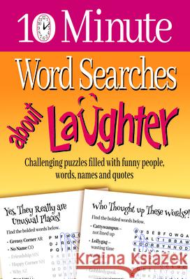 10 Minute Word Searches about Laughter Product Concept Editors 9781733160315