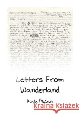 Letters from Wanderland Kayla McCain 9781733784610