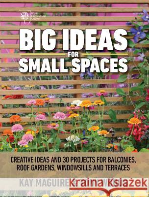 Big Ideas for Small Spaces: Creative Ideas and 30 Projects for Balconies, Roof Gardens, Windowsills and Terraces Kay Maguire Tony Woods 9781770858695