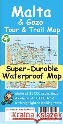 Malta and Gozo Tour and Trail Super-Durable Map Jan Kostura 9781782750642 Discovery Walking Guides Ltd